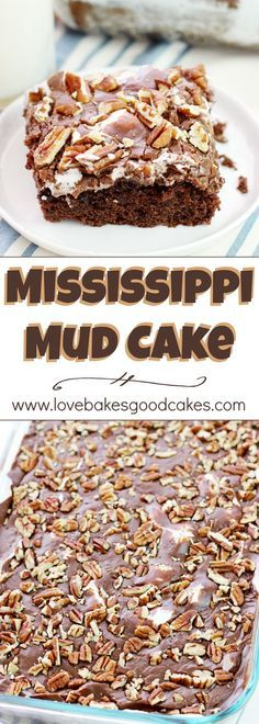 Mississippi Mud Cake ~ a Southern classic cake with chocolate, marshmallows, and pecans...everyone will ask for this recipe!