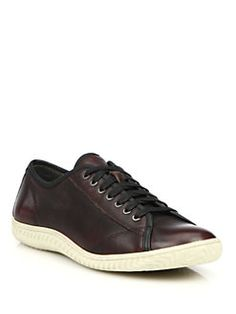 John Varvatos Star USA - Hattan Leather Low-Top Sneakers