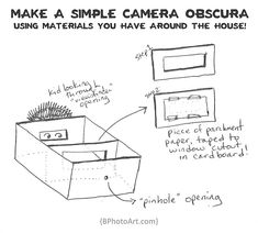 Make a simple camera obscura, using materials you have around the house!