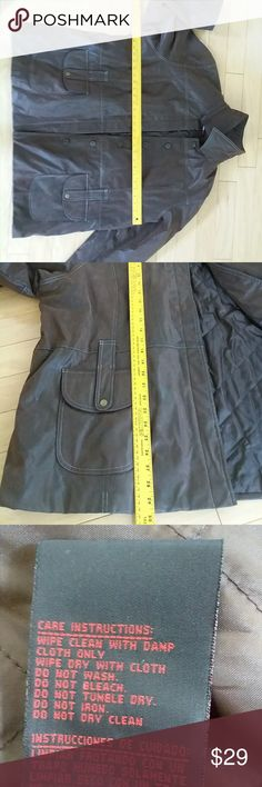 WeatherTamer vegan leather coat jacket NICE! WeatherTamer vegan leather coat jacket NICE super soft comfy warm but not too bulky Weatherproof Jackets & Coats