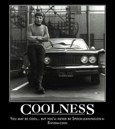 Coolness - You may be cool... but you'll never be Spock-leaning-on-a-riviera cool
