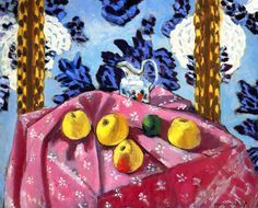 Still Life with Apples on a Pink Tablecloth Henri Matisse - 1924