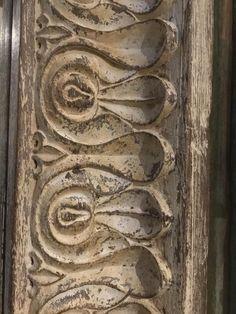 Limed Teak Mirror From Gujarat - 19thC - Indigo Asian Antiques & Interiors UK