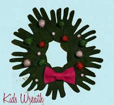 Hand print wreath for daily Dec crafts