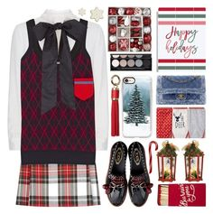 Christmas by barbarela11 on Polyvore featuring polyvore fashion style Miu Miu Valentino New Look Casetify Dorothy Perkins Witchery North Pole Trading Co. clothing
