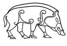 Pictish boar line