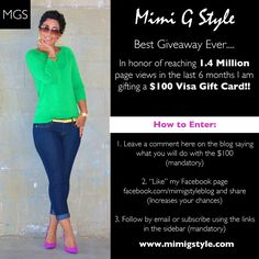 $100 Giveaway!!! WOOT WOOT  Ends Saturday 9/29