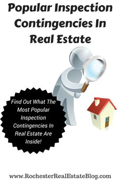 Popular Inspection Contingencies In Real Estate - See What The Most Common Inspection Contingencies Are Inside! http://www.rochesterrealestateblog.com/home-buying-contingencies-to-consider-including-in-your-purchase-offer/ via @KyleHiscockRE #realestate #homebuying