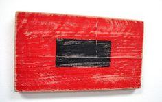 Nautical Wood Signal Flag Hurricane Warning :)