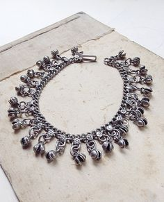 Vintage Silver Indian Tribal or Ethnic Anklet by MyVintageSupplies