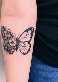 Butterfly tattoo ideas to represent the transformation-Schmetterling Tattoo Idee. - Butterfly tattoo ideas to represent the transformation-Schmetterling Tattoo Ideen zur Darstellung d - Dope Tattoos, Pretty Tattoos, Mini Tattoos, Beautiful Tattoos, Tattoos For Guys, Tatoos, Guy Tattoos, Tattoos Pics, Ribbon Tattoos
