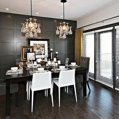 Yellow and Gray Dining Room, Contemporary, dining room, Sabal Homes