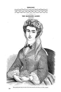 The Madeleine Jacket ~ Godey's Lady's Book, August 1864 | Flickr - Photo Sharing!