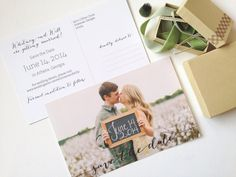 Custom Photo Save the Date Postcards Wedding by PaperPleaseStudio
