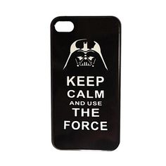 Star Wars - Darth Vader - Keep Calm and use the Force Pattern Plastic Hard Case Cover for iPhone 4/4S – USD $ 3.99