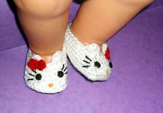 Hello Kitty Baby Booties CROCHET PATTERN, 4 sizes - Slippers - instant download. $2.99, via Etsy.