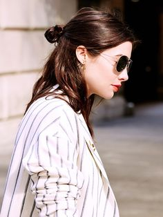 half top knot + shades