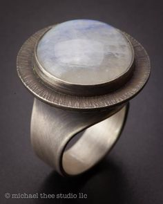 Moonstone Pod ring, dark textured sterling silver band, US size organic, dome… - Silver Jewelry Sterling Silver Jewelry, Gold Jewelry, Jewelry Rings, Silver Earrings, Diamond Jewelry, Glass Jewelry, Jewelry Ads, Jewelry Quotes, Jewellery Shops