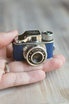 Vintage CMC Subminiature Camera Blue Hit-Type by ThePerfectLight
