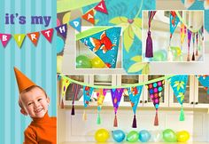 Kid's Birthday Party: Tasseled Fabric Party Banner