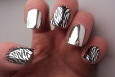 chrome zebra nails