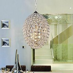 229.99$  Watch now - http://alioaw.worldwells.pw/go.php?t=32331334394 - Modern LED K9 Crystal Pendant Lights With 3Lights For Home Living Lights,E14 Bulb Included,Lustre De Cristal,Lustres e Pendentes