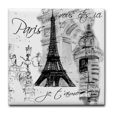 Paris Eiffel Tower Collage Black & White Throw Pillows by Zazzle Paris Room Decor, Paris Rooms, Paris Bedroom, Paris Theme, Dream Bedroom, Torre Eiffel Paris, Paris Eiffel Tower, Paris Black And White, Black And White Design