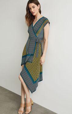 cb7edddd14 Sandy Dots Asymmetric Dress