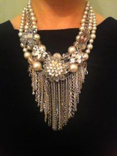 Weddbook is a content discovery engine mostly specialized on wedding concept. You can collect images, videos or articles you discovered  organize them, add your own ideas to your collections and share with other people | Vintage Statement Necklace $35 #necklace