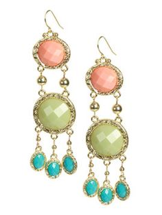 Colorful chandelier earrings-Love them