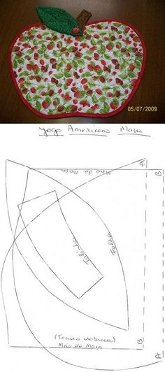 Jogo Americano de maçã.