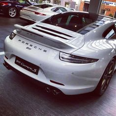 Porsche 911 Carrera S white baby #porsche