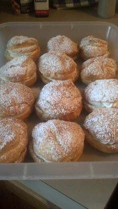 Homemade Cream Puffs with Creamsicle Flavored Whipped Cream Filling