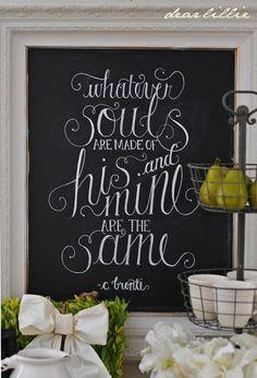 Dear Lillie will soon start selling her chalkboard art as prints...yaaaaay!!