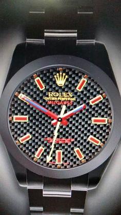 Custom Rolex Milgauss from Brevet + Via Graham Mylett Rolex Watches For Men, Luxury Watches For Men, Fine Watches, Men's Watches, Rolex Wrist Watch, Rolex Air King, Amazing Watches, Dream Watches, Elegant Man