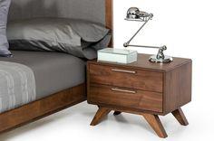 Nova Domus Soria Modern Walnut Nightstand
