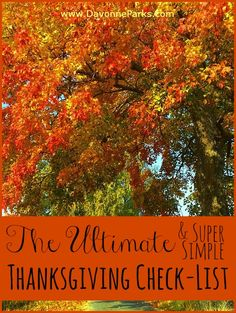 The simplified last-minute Thanksgiving guide. I LOVE this! So easy to follow, with great (and very simple) ideas for keeping the kids occupied!