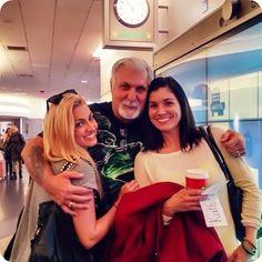 Gena, Stacey (irmã) e Robert (pai).