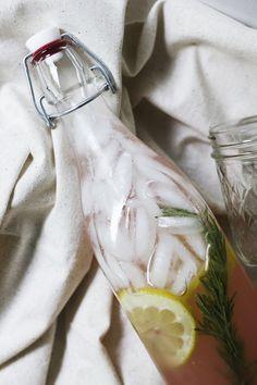 Rhubarb rosemary lemonade recipe