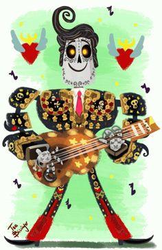 Images For - The Book Of Life Skeleton Carmen Book Of Life Costume, Book Of Life Movie, Sugar Scull, Day Of The Dead Art, Modelos 3d, Desenho Tattoo, Back Tattoo, Illustrations, Halloween