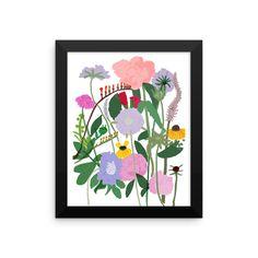 Dutch Flowers Framed photo paper poster