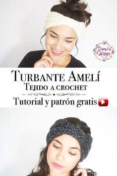Easy crochet headband, free video tutorial with the step by step! Love Crochet, Beautiful Crochet, Diy Crochet, Crochet Flowers, Easy Crochet Headbands, Crochet Turban, Crochet Hats, Waffle Stitch, Crochet For Beginners