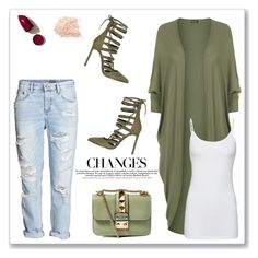 """""""Some Changes...."""" by christinacastro830 ❤ liked on Polyvore featuring H&M, WearAll, River Island, Valentino, Splendid and NARS Cosmetics"""