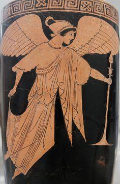 Pintor de Dutuit, Nice alada transportando un thymiaterion, 490 a.n.e. Metropolitan Museum of Arts, Nueva York