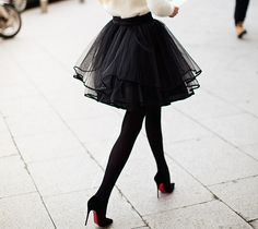In love with tulle skirts and of course the shoes.