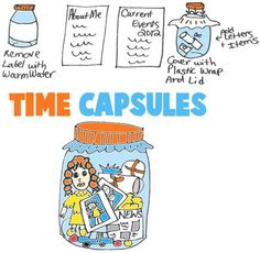 Time Capsule Crafts for Kids : Ideas for Arts Crafts Activities to Make Time Capsules for Children, Teens, and Preschoolers