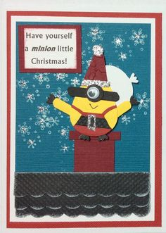 Minions Christmas card I made | christmas card making | Pinterest ...