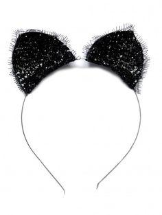 Party Costume Coiffure Cheveux Accessoires Paillettes Tête Hoop Cat Ears Headband