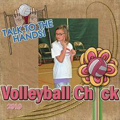 Volleyball Chick - Scrapbook.com