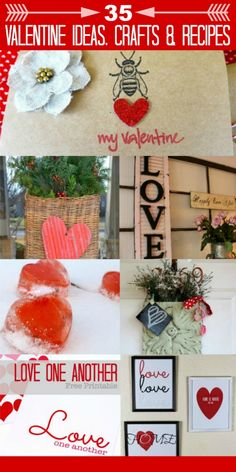 So many great ideas for Valentine's Day! 35 Valentine Inspiration-What Meegan Makes